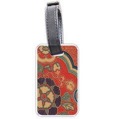 Vintage Chinese Brocade Luggage Tags (one Side)