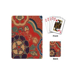 Vintage Chinese Brocade Playing Cards (mini)