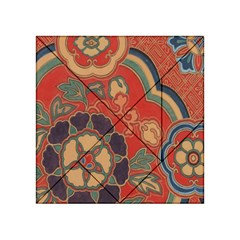 Vintage Chinese Brocade Acrylic Tangram Puzzle (4  x 4 )