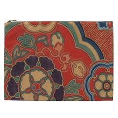 Vintage Chinese Brocade Cosmetic Bag (xxl)