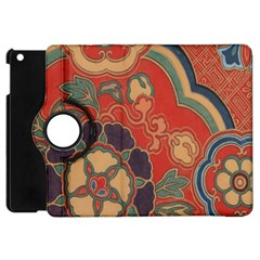 Vintage Chinese Brocade Apple iPad Mini Flip 360 Case