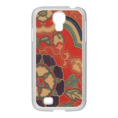 Vintage Chinese Brocade Samsung Galaxy S4 I9500/ I9505 Case (white)