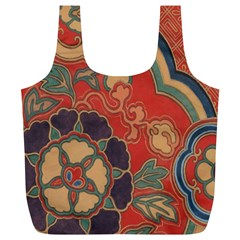 Vintage Chinese Brocade Full Print Recycle Bags (l)