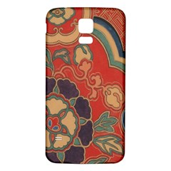 Vintage Chinese Brocade Samsung Galaxy S5 Back Case (white)