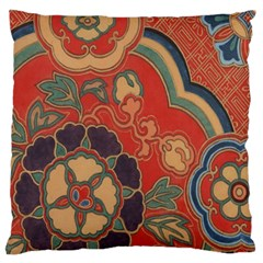 Vintage Chinese Brocade Large Flano Cushion Case (Two Sides)