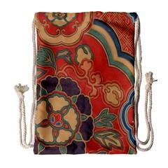 Vintage Chinese Brocade Drawstring Bag (large)