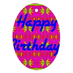 Happy Birthday! Ornament (Oval)