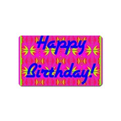 Happy Birthday! Magnet (name Card)