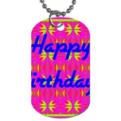 Happy Birthday! Dog Tag (two Sides)