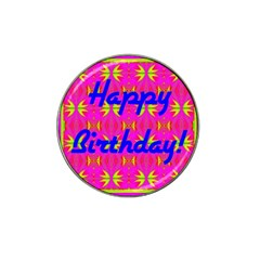 Happy Birthday! Hat Clip Ball Marker (4 pack)