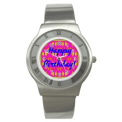 Happy Birthday! Stainless Steel Watch