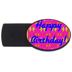 Happy Birthday! USB Flash Drive Oval (4 GB)