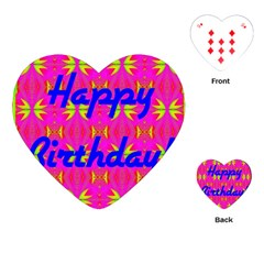 Happy Birthday! Playing Cards (heart)