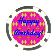 Happy Birthday! Poker Chip Card Guard (10 Pack)
