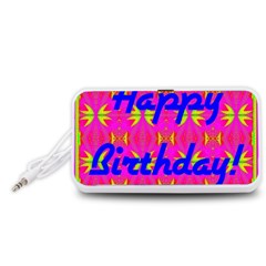 Happy Birthday! Portable Speaker (White)