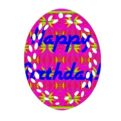 Happy Birthday! Ornament (oval Filigree)