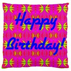 Happy Birthday! Large Cushion Case (one Side)