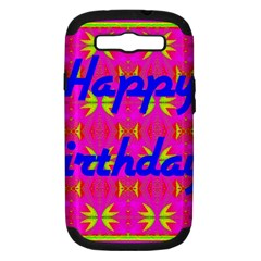 Happy Birthday! Samsung Galaxy S III Hardshell Case (PC+Silicone)