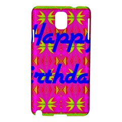 Happy Birthday! Samsung Galaxy Note 3 N9005 Hardshell Case