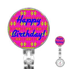 Happy Birthday! Stainless Steel Nurses Watch