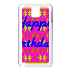 Happy Birthday! Samsung Galaxy Note 3 N9005 Case (white)