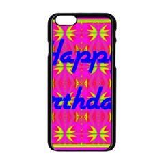 Happy Birthday! Apple iPhone 6/6S Black Enamel Case