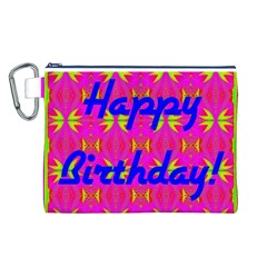 Happy Birthday! Canvas Cosmetic Bag (l)
