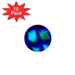 Blue Scales Pattern Background 1  Mini Buttons (10 Pack)