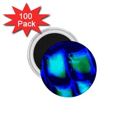 Blue Scales Pattern Background 1 75  Magnets (100 Pack)
