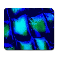 Blue Scales Pattern Background Large Mousepads