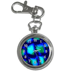 Blue Scales Pattern Background Key Chain Watches