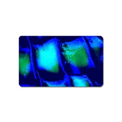 Blue Scales Pattern Background Magnet (Name Card)