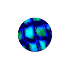 Blue Scales Pattern Background Golf Ball Marker