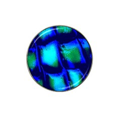 Blue Scales Pattern Background Hat Clip Ball Marker (4 Pack)