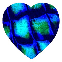 Blue Scales Pattern Background Jigsaw Puzzle (heart)