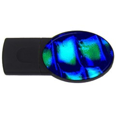Blue Scales Pattern Background Usb Flash Drive Oval (4 Gb)