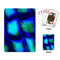 Blue Scales Pattern Background Playing Card