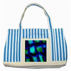 Blue Scales Pattern Background Striped Blue Tote Bag