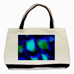 Blue Scales Pattern Background Basic Tote Bag (Two Sides)