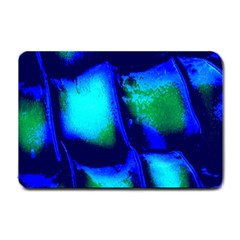 Blue Scales Pattern Background Small Doormat