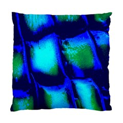 Blue Scales Pattern Background Standard Cushion Case (One Side)