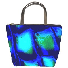 Blue Scales Pattern Background Bucket Bags