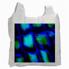 Blue Scales Pattern Background Recycle Bag (One Side)