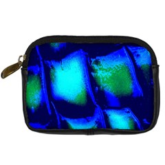 Blue Scales Pattern Background Digital Camera Cases