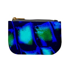 Blue Scales Pattern Background Mini Coin Purses
