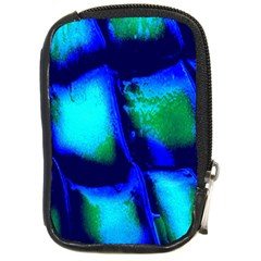 Blue Scales Pattern Background Compact Camera Cases