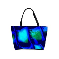 Blue Scales Pattern Background Shoulder Handbags