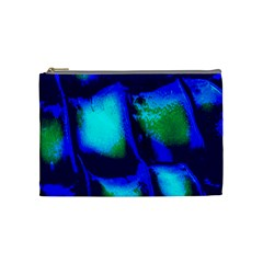 Blue Scales Pattern Background Cosmetic Bag (medium)