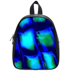Blue Scales Pattern Background School Bags (small)
