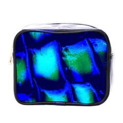 Blue Scales Pattern Background Mini Toiletries Bags